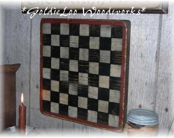 Simple Prim Checkerboard,Folk Art, Wall Art, Game Board