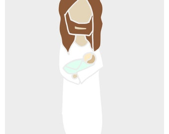 Custom Christ and Child Portrait
