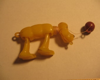 1950s Plastic Dog Toy Hong Kong Very Nice Condition#830