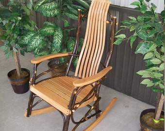 Bent Hickory Rocker - 7 Slats