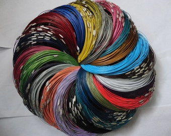 Big promotion//100pcs assorted color(25colors)1.0mm 18 inch stainless steel wire necklace cord