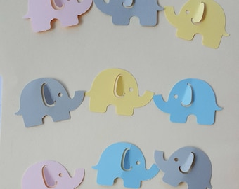 50 Elephant Confetti, It's A Girl or Boy Confetti, Gender Reveal Party, Baby Shower Decorations, Birthday Party Decorations, Table Scatter