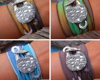 Silk Wrap Bracelet, Silver Wrap Bracelet, Sterling Silver SILK WRAP BRACELET