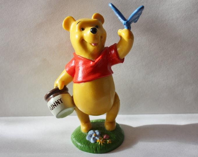 Disney Store Lil Classics Winnie the Pooh Honey Pot Butterfly Figurine PVC Collectibe Figure