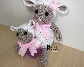 Crochet Lamb Amigurumi Set