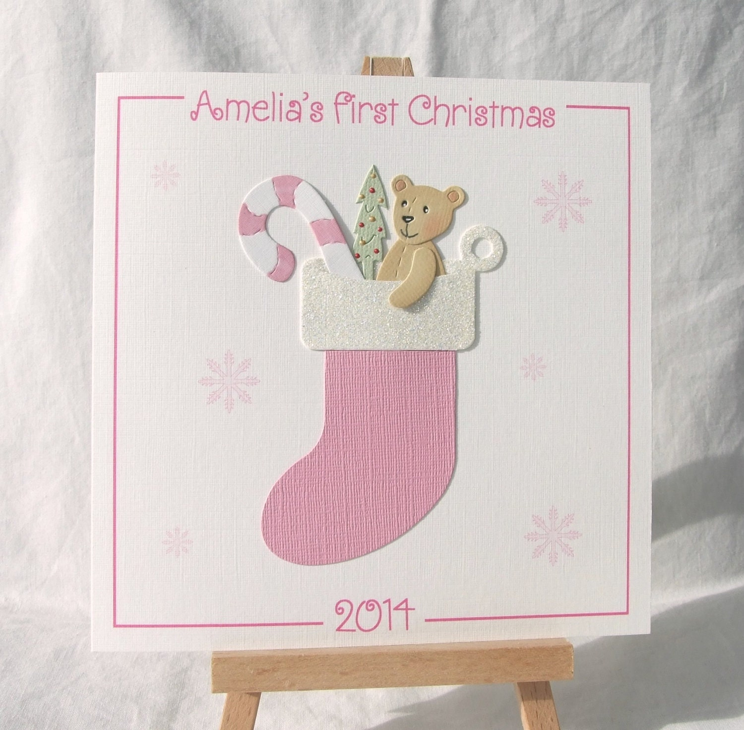 Baby's 1st Christmas Card Baby's First Christmas