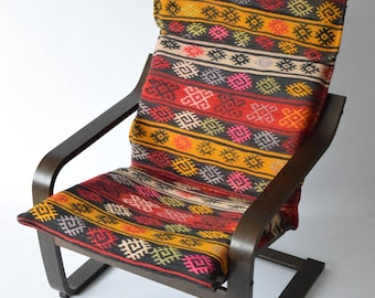 fauteuil kilim etsy. Black Bedroom Furniture Sets. Home Design Ideas