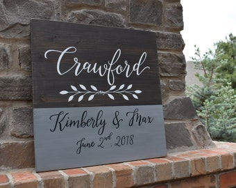 Personalized Name Sign | Wedding Decor | Home Decor | Hand Painted