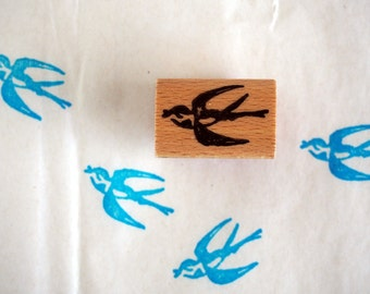 little swallow - rubberstamp - 20x30mm