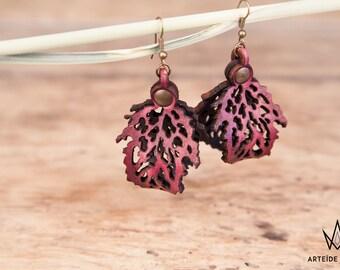 Boucles d'oreilles violette Lélia