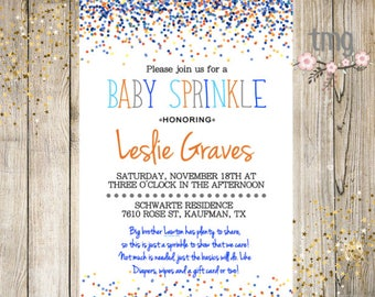 donuts and diapers invitation sprinkle shower baby shower