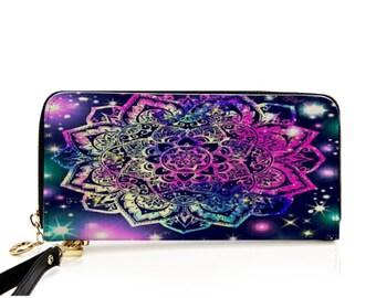 Galaxy wallet, space wallet, cosmic wallet, everyday fashion wallet