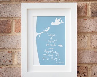 What if you fly? - Giclée print