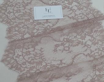 Purple lace Trim, French Lace trim, Chantilly Lace trim, Bridal lace, Wedding Lace Veil lace Scalloped lace Lingerie Lace by the yard L29381