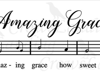 Amazing Grace digital cut file/ SVG / cut file / circuit / silhouette