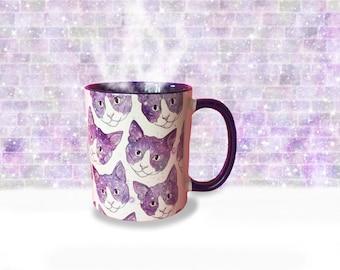 Cosmic Cats Mug - cats - Tea - Coffee - Cup - Illustration - cosmic - galaxy - space - cat Mug - Tea Lover - Coffee Lover - Gemsville