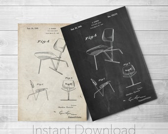 Chair Printables, Modern Furniture, Office Art, Retro Furniture,  PP0159