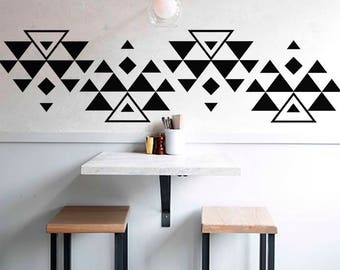 Triangles wall decal-Geometric vinyl decal-Geometric wall decal-Dorm wall decals-Boho Vinyl Wall Decal-Nursery Decals-Triangle sticker