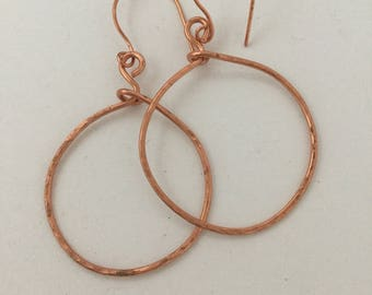 Bette copper hoop earrings