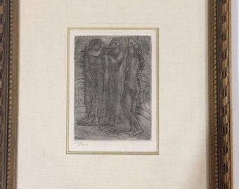 """Pablo Picasso """"Groupe De Trois Femmes"""" original Etching"""