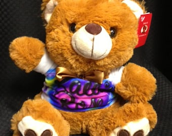 Teddy Bear w/ Tee. Personalized Airbrush T-Shirt