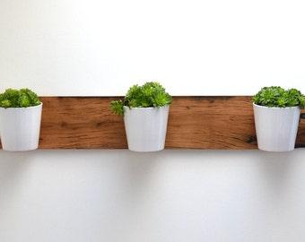 Reclaimed French Wagon Oak Horizontal Planter / Vertical Garden / Wall Garden