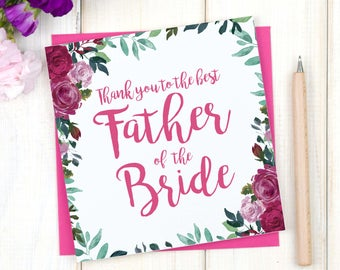 Thank you parents of the bride card thank you mother and thank you father of the bride card thank you for mother of the bride card thank you parents card personalised thank you wedding card m4hsunfo