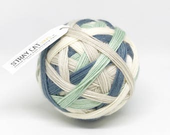 PARCHMENT - hand dyed self striping sock yarn