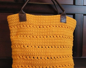 Crochet Tote Pattern (Sunny Summer Tote) Instant Download