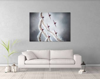 Airplane Decor, Airplane Wall Art, Aviation Art, Airplane Prints, Airplane Gifts, Airplane Photo, Pilot Gifts, Royal Airforce Red Arrows