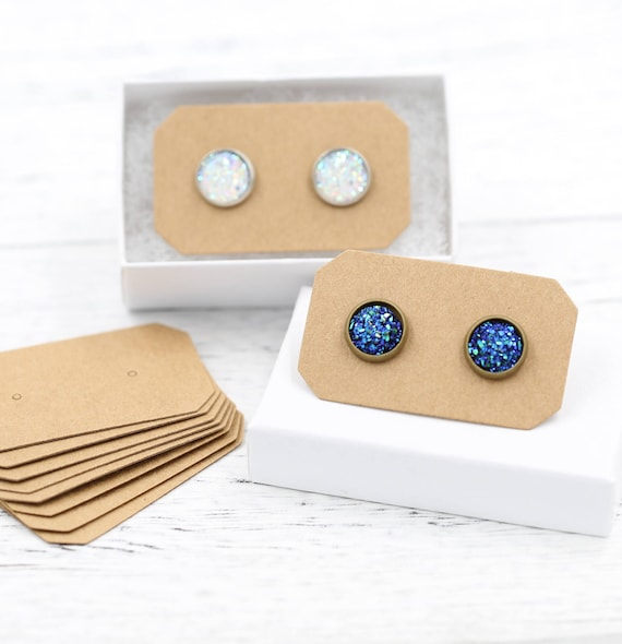 gift item and jewelry necklaces boxes packaging package case display carry card earrings paper