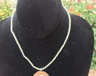 Beaded Ammonite Necklace
