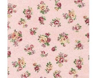 Emma 2- Rose Buds/Pink By Robert Kaufman - Cotton Fabric
