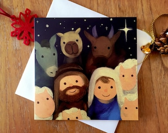 Christmas card. Joy to the World - with envelope