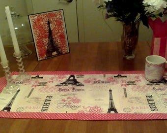 Parisian-themed Valentine Table Runner
