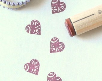 Groovy Heart Rubber Stamp