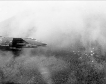 Poster, Many Sizes Available; Air Force F-100D Super Sabre Fires Rockets Vietnam 1967