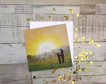 You are my Sunshine, Fine Art Blank Greetings Card, UK Seller.