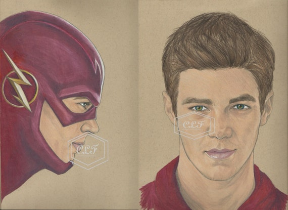 The Flash Barry Allen Drawing