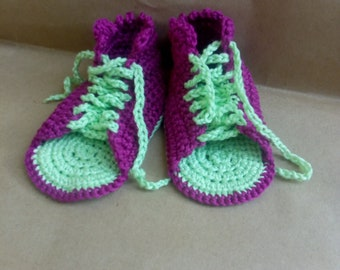 Baby gladiator Shoes, Baby Gladiator Sandals, Crochet Baby Shoes, Pink Baby Shoes, Newborn shoes, Crochet newborn shoes, Cotton Baby Shoes