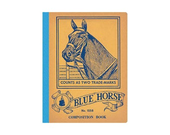 Blue Horse Composition Book