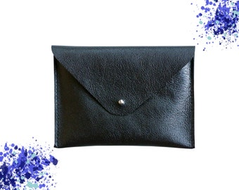 Cover-leather wallet / / black