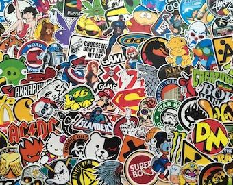 Set of mini stickers, stickers, deco, skate, geek, anime, motorcycle, doodle, fun, custom, scrapbooking, personalization