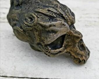 Skull sculptures 13 of 19.monster skulls. halloween decor. resin figures. oddities.dark art. creepy sculptures. creature sculptures