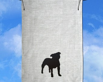 English Staffordshire Terrier Staffy Linen Tea Towel Dish Towel Dish Cloth Free Shipping Australia Wide