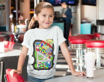 Airplane Map Kids T Shirt 3 PLANES INCLUDED!!!
