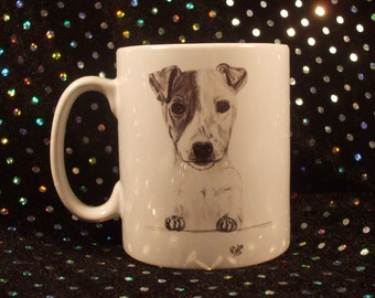 Jack Russell Terrier Dog Coffee Mug, Gift for Dog Lover,