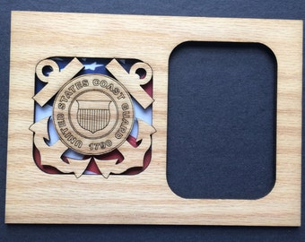 DISCONTINUED US Coast Guard Picture Frame Insert, Coast Guard Anchor, Gift for Coast Guard, Ready to Ship