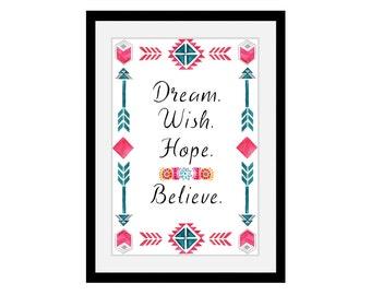 Art print 'dream wish...