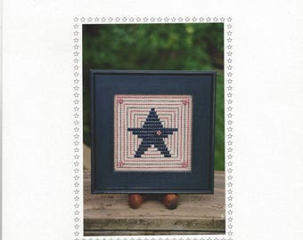 """Clearance - """"Patriotic Block"""" Counted Cross Stitch Chart by Sekas & Co."""